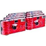 TopShot Lot de 8 appareils photo jetables Roses pour 27 photos avec flash