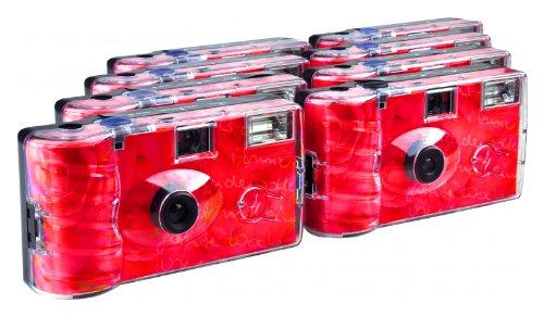TopShot Roses Einwegkamera (27 Fotos, Blitz, 8-er Pack)