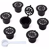 HITSAN 8Pcs Set Refillable Reusable Coffee Capsules Pod Reusable Refilling Filter For Nespresso Machine One Piece
