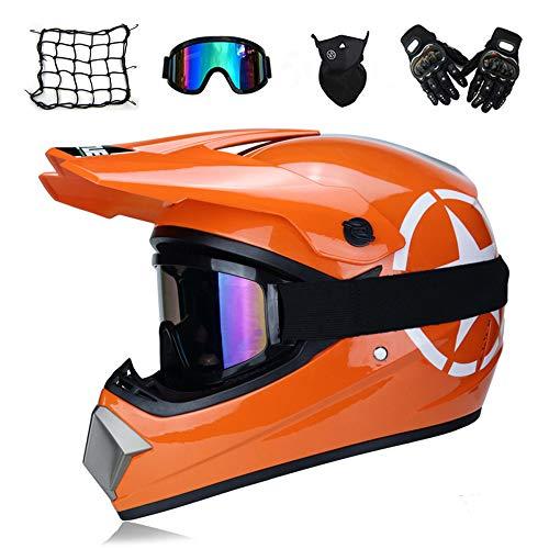 Casco Motocross Gafas Máscara Guantes Red Elástica