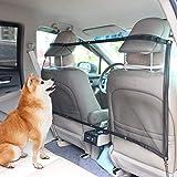 AK KYC Verstellbaren Hundenetz Auto Sicherheitsnetz Trennnetz zwischen Haustier Autofahrer Schutznetz für sicher und angenehm Reise Autonetz Mesh 115 x 62cm