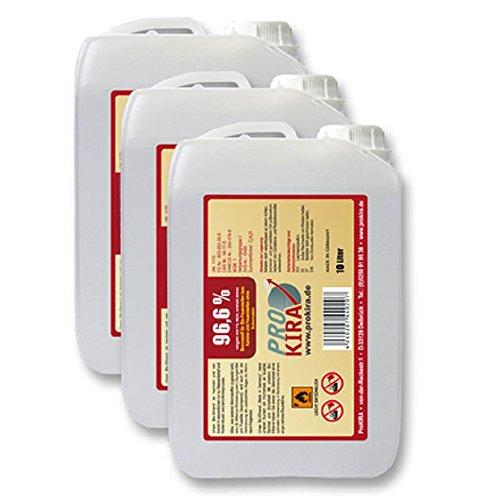 3 x 10 Liter Brenngel 96% Ethanol für Gelkamine für Chafing Dish/Speisewärmer
