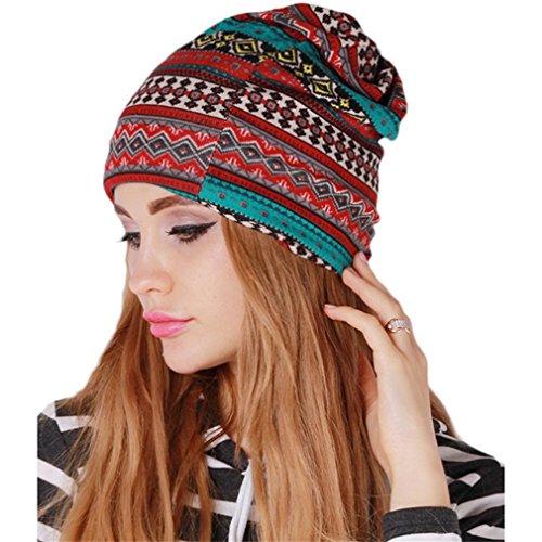 HENGSONG Autunno Maglia Donne Inverno Cappello Del Crochet Beanie Ispessimento Protezioni Calde Cappello Di Lana Earflap Sciarpa Cappello (Rosso Verde)