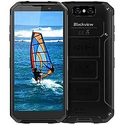 Blackview BV9500 Plus Móvil Antigolpes, Android 9.0, 10000mAh Batería, Helio P70 Octa-Core 4GB 64GB, 5.7 Pulgadas, Cámara 16MP + 13MP, Móvil Resistentes, IP68/ IP69K/ NFC/GPS/Dual SIM - Negro