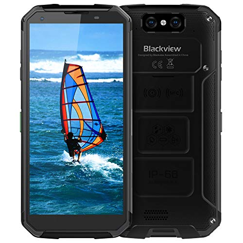 Outdoor Handy Wasserdicht, Blackview BV9500Plus Smartphone 10000mAh Kabellose Batterie, Helio P70 4GB RAM+64GB ROM Android 9.0 Robuste Smartphone, 5.7 Zoll Display mit 16MP+13MP Dual Kameras