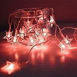 Y-XM Sterne Lichterketten mit 100 LED 10m batteriebetriebene String Lights, Hochzeitsparty Dekorative Weihnachtsbeleuchtung