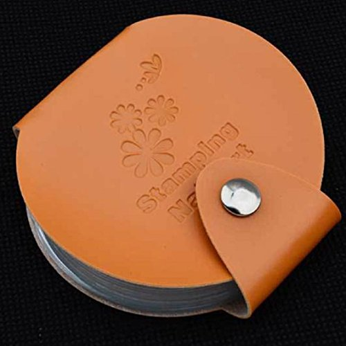 Vovotrade ❤❤ Organizer Bag Stamp Stamping Nail Art DIY Holder Modèle Image Plate Case_Orange