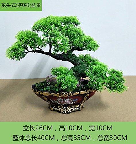 New Dekorative Blumen Simulation künstliche blumen Lucky Feng Shui deko Künstliche Pflanze Früchte Blume Baum Grün Topf Wohnzimmer Tisch Dekoration ( multicolore) , #171 (Silk Tisch-pflanzen)