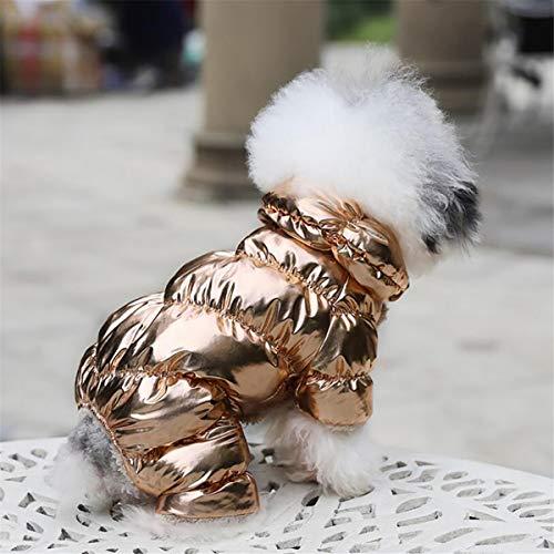 Beiswin Stilvolle Hundekleidung Winter Französisch Bulldog Hund Kostüm Kleine Hund Welpen Baumwolle Gepolsterte Warme Mantel Anzug Jacke Für Chihuahua Pet Kleidung (XS)