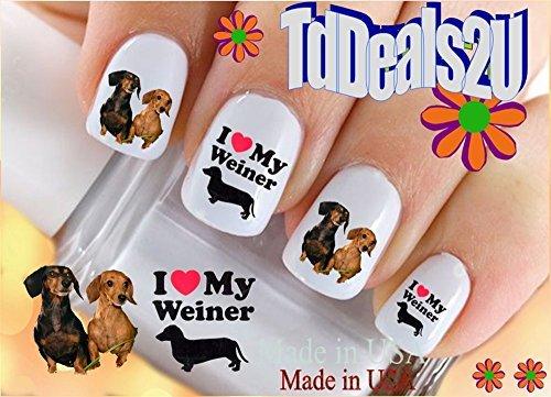 dachshund-my-weiner-dog-i-love-dog-breed-nail-decals-waterslide-nail-art-decals-highest-quality-made