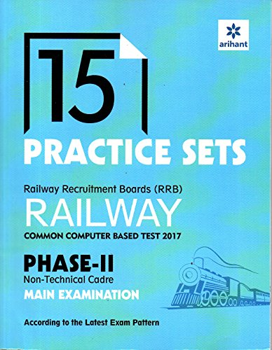15 Practice Sets (RRB) Common Computer Based Test 2017 Phase II