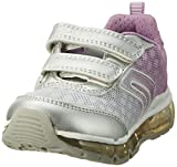 Geox Mädchen J Android Girl B Low-Top, Silber (Silver/Lt Lilacc1285), 29 EU