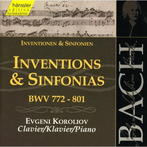 Bach, J.S.: Inventions and Sinfonias, Bwv 772-801