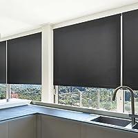 Store enrouleur casa pura® Mini Daylight noir | 9 tailles au choix | translucide - 3 types de fixation | avec matériel de montage inclus | 100x150cm