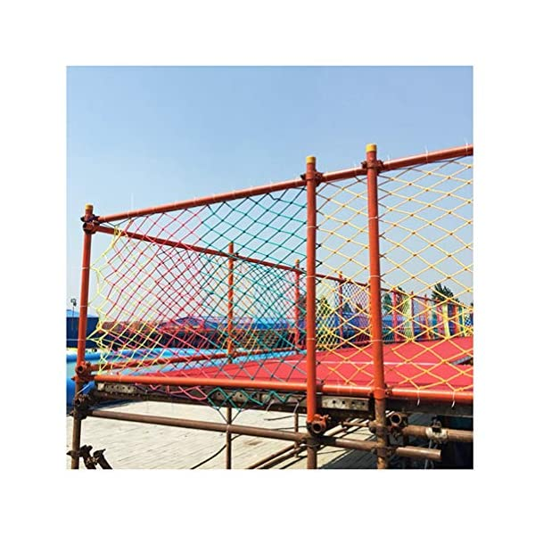 Rope Net Safe Net Child Safety Nets Protection Fence Climbing Rope Neting Truck Cargo Trailer Mesh For Kids Toys Pets Balcony Railings Stairs Protective Net Color Ssize: 1×4M (Size : 3 * 7M)  ✪ 【Material】: Polyester braided rope, hand-tightened, so that the mesh has greater tensile strength and strong impact resistance. Climbing Net. ✪ 【Three strands of rope】: Woven with three strands of rope, precision wiring, workmanship, high temperature baking, dyeing, anti-corrosion, waterproof, sunscreen, anti-reinforced braided rope is not easy to break, durable. Climbing Net. ✪ 【Hand-woven】: Lightweight child safety stair protection net, high-grade sturdy fabric, professional knotting, multi-strand weaving, make the rope more durable, has strong impact resistance, and protect children's safety. Climbing Net. 4