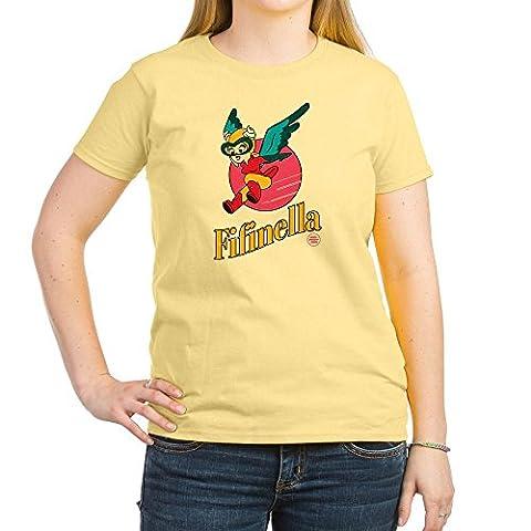 CafePress - Fifinella Nose Art - Womens Crew Neck Cotton T-Shirt, Comfortable & Soft Classic Tee