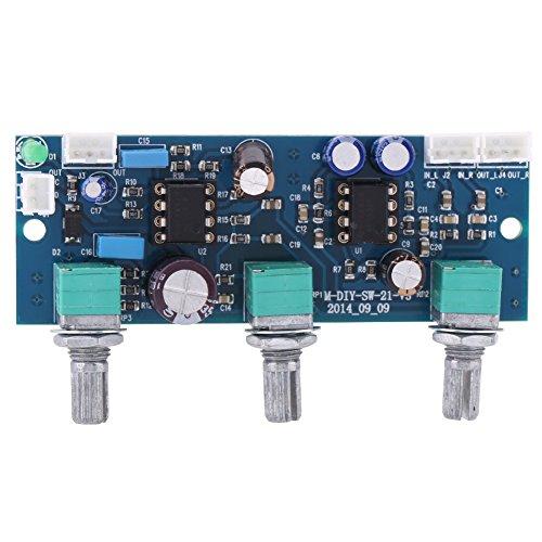 1 Stück DC 10 V-25 V Tiefpassfilter Bass Ton Subwoofer Vorverstärker Lautstärkeregler Preamp Board, 2,1 Kanal