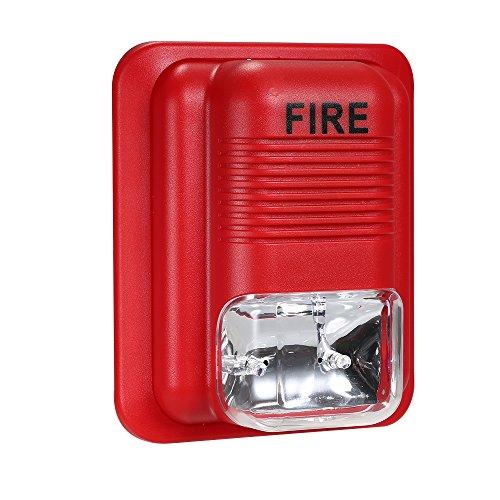 Fire Alarm Horn Strobe (OWSOO Feueralarm Warnung Strobe Sirene Horn Sound & Strobe Alarm Sicherheitssystem für Home Office Hotel Restaurant)