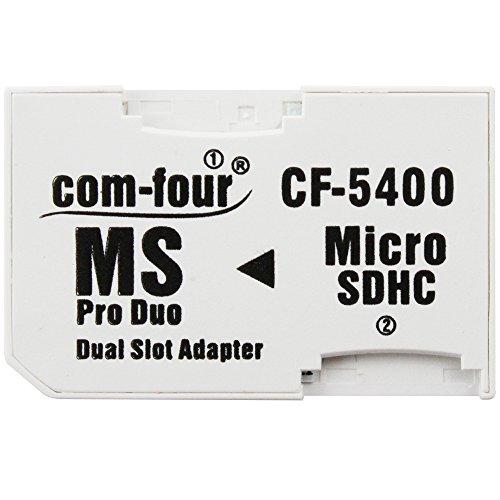 Doble Micro SD a MS Pro Duo adaptador de tarjeta de memoria microSD con Memory Stick para Sony PSP Camera Phone Max. 32GB