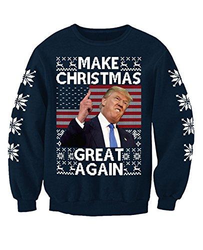 Donald Trump Make Christmas Great Again Adults Novelty Christmas Sweatshirt Jumper