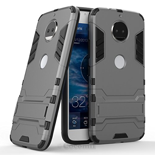 Motorola Moto G5S Plus / G6 Plus Hülle, Cocomii Iron Man Armor NEW [Heavy Duty] Premium Tactical Grip Kickstand Shockproof Hard Bumper Shell [Military Defender] Full Body Dual Layer Rugged Cover Case Schutzhülle XT1806/2/3/4/5 (Gray)