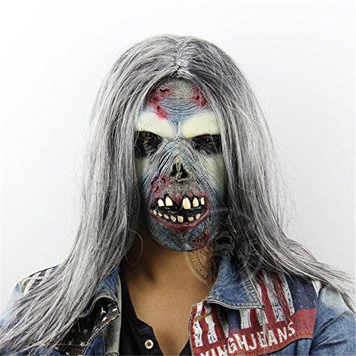 een Horror Ghost Maske Kopfbedeckung Ghost Room Chamber Escape Dress Up Scary Lustige Stützen Hochwertige Latex (Halloween Von Rob Zombie Full Movie)