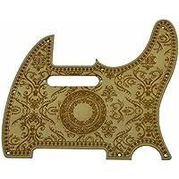 KAISH - Golpeador de guitarra de madera de arce con 8 agujeros estilo floral para Fender Telecaster