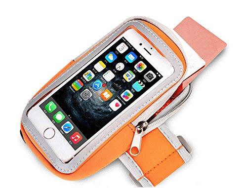 Telefono Sport Armband, Sport Scratch-materiale resistente, sottile e leggero, doppio slot Braccio-Size, sudore resistente chiave tasca, con porte cuffia