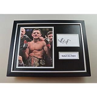 Rafael dos Anjos Signed Photo Framed 16x12 UFC Autograph Display Memorabilia COA