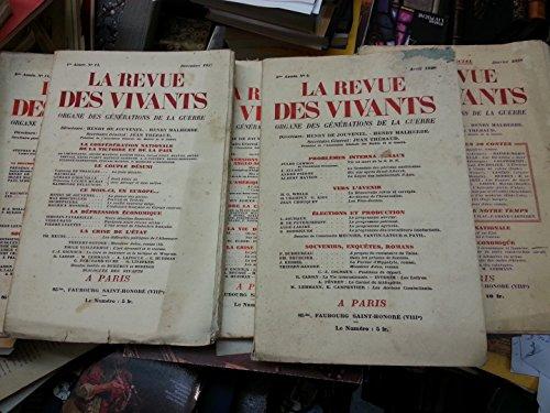 La revue des vivants n 11 2e anne Novembre 1928 Dix ans aprs l'armistice Naufrage de l'Ondine Guierre Wells La conspiration II Geenvoix