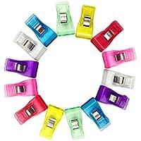 NaiCasy Zangen-Clips Kunststoff-Nähen zum Quilten Nähen mit Einer Plastikflasche100 Stück Clips Couture Plastic Unsere Quilt/Couture mit Einer Flasche aus Kunststoff