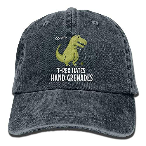 KAKICSA Funny Hat Cap Baseball Cap T- Hates Hand Grenades Unisex Golf Hats  Adjustable Baseball 77dfb6421860