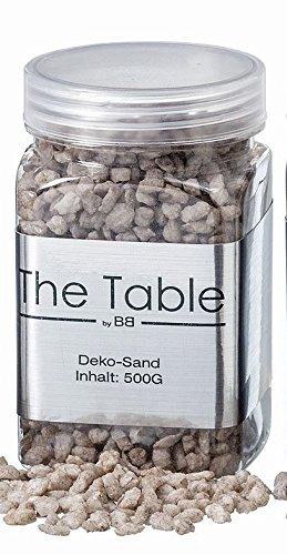 Boltze Deko Sand Streu Stein Grau Grob Körnig ca 500 Gramm Home Farbmix Stein Sand