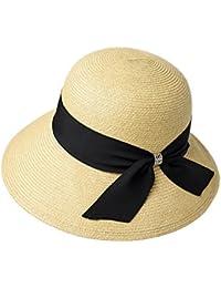 ZX-sombrero Sra. Visera Plegable Papiro Transpirable Protección Solar Protección UV Aire Libre 57cm