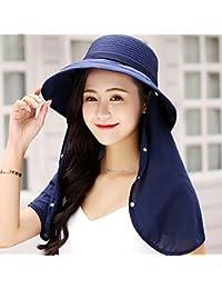 MEI XU Sombreros de Sol Amplio para Mujer Nylon Plegable sombrilla Máscara  UV Transpirable de Viaje a84fd51b402