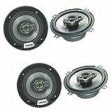 Clarion SRG1333R 3-Wege Triaxial Lautsprecher System Boxen für BMW 5er E39 Touring und Limousine in die Türen vorne sowie Heckklappe BZW. Dachhimmel hinten