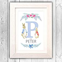 Personalise Naming day gift/Nursery wall/Peter Rabbit children's gift/Christening gift for boy or girl/Christmas present VA131