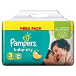 Pampers Baby Dry Nappies Mega Pack, Size 5 (Junior) - 74 Nappies