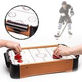 Monsterzeug Airhockeytisch, Mini-Air-Hockey für Zuhause, Schwebe-Spielfeld Tisch, Luftkissen Spielzeug, 2 Schlägerpads Torzähler und Pucks Spiel, 50 x 30 cm