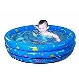 XLHGG Piscina Baby rotonda pieghevole gonfiabile bambini famiglia vasca gonfiabile Baby vasca, arancia, 130 * 35