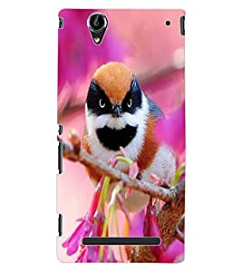 ColourCraft Beautiful Bird Design Back Case Cover for SONY XPERIA T2 ULTRA