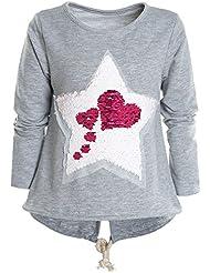 BEZLIT Mädchen Wende Pailletten Long Shirt Bluse Pullover Langarm Sweat Shirt 21000