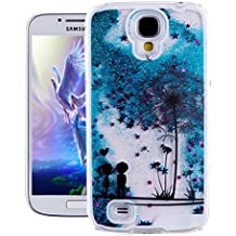 EMAXELERS Samsung Galaxy S4 Case, Glitter Flowing Liquid Floating Moving Duro Custodia Protettiva per Samsung Galaxy S4 i9500 + Send 1 Stylus Pen