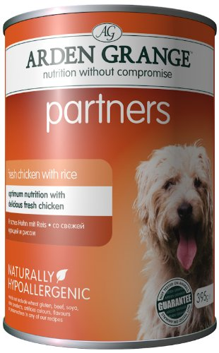 Arden Grange Dog Food Partners Fresh Chicken, Rice and Vegetables 6 X 395 g (Pack of 4)