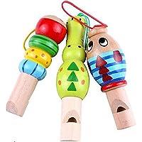 Instrumento de Música Educativo Animal Lindo del silbido de Madera del Juguete para los Niños del bebé