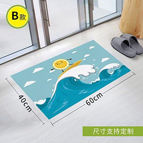Stick Slip Sticker Toilet Scrub Toilet Waterproof Gummed Paper Twill Bathroom Glass Pad To Remove Environmental Protection, 90 * 60Cm,Two -