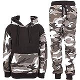 Kids-Boys-Camouflage-Tracksuit-Fleece-Hoodie-Hooded-Top-Bottom-Joggers-Gym-Sport