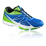 Salomon Herren L39027600 Traillaufschuhe, Blau (Blue Yonder/Tonic Green/White), 42 2/3 EU