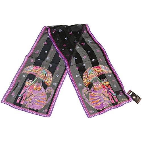 laurel-burch-foulards-chats-avec-parapluie-classique