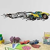 Bilderwelten Wandtattoo Hot Wheels High Speed, Sticker Wandtattoo Wandsticker Wandbild, Größe: 20cm x 100cm
